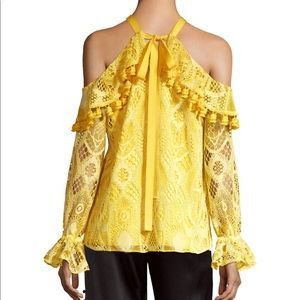 2018 Alexis Adriana Lace Top Yellow